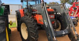 SAME ANTARES 110 4WD CAB TRACTOR WITH TRIMA SELF LEVELLING FRONT END LOADER