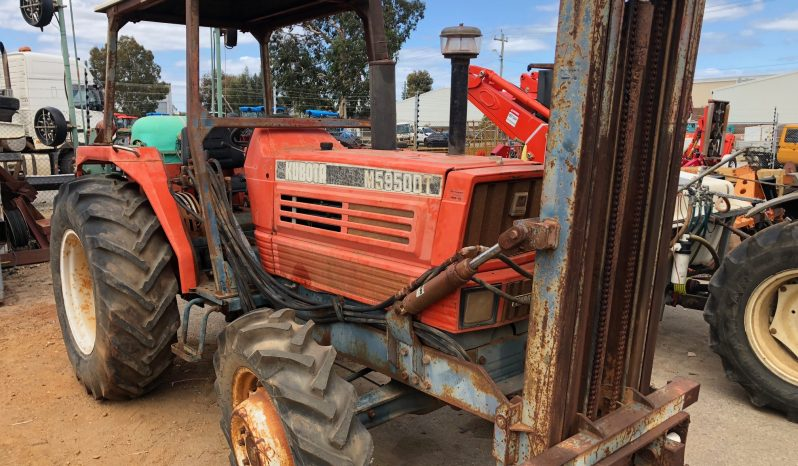 KUBOTA 5950DT 4WD TRACTOR WITH FRONT MOUNTED FORKLIFT full