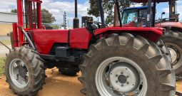 MASSEY FERGUSON 373 4WD TRACTOR WITH FRONT MOUNTED FORKLIFT