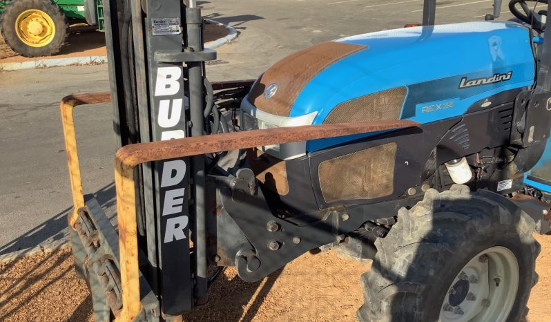 LANDINI REX 90F ROPS TRACTOR WITH FRONT MOUNTED BURDER FORKLIFT full