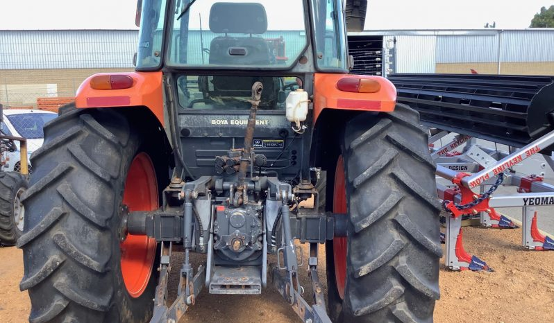 KUBOTA M8540 4WD CAB TRACTOR WITH FRONT MOUNTED BURDER FORKLIFT WITH SIDESHIFT full